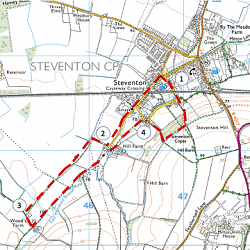 Map of the Walk (courtesy of Ordnance Survey)