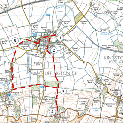 Map of the Walk (courtesy of Ordnance Survey) thumbnail